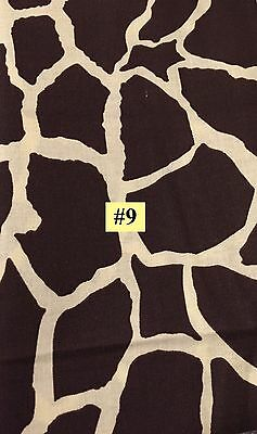 WILD ANIMAL African Giraffe type PRINT 100% COTTON FABRIC by the yard #9 (Giraffe Print Cotton)