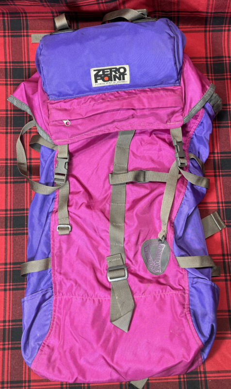 MontBell Zero Point Hikers Pack 30 Backpack Nylon Black Bag Wishbone Suspension