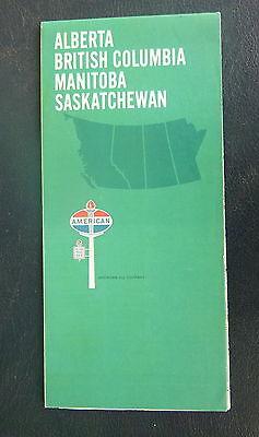 1968 Alberta British Columbia Manitoba SK road map American oil  gas Canada
