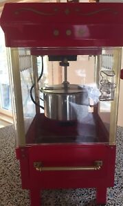 10 Cup Retro Kettle Popcorn Maker - RED