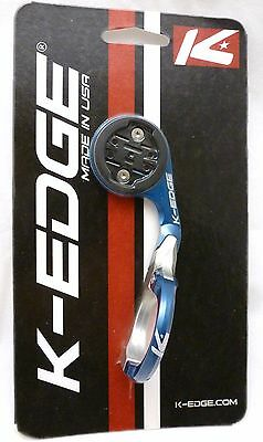 K-Edge Garmin Mount Blue Silver for All Edge Computers K Edge