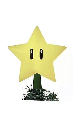 NEW Nintendo Super Mario Light-Up Star Power Christmas Tree Topper Holiday