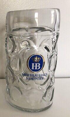 Hofbrauhaus Newport Dimpled Beer 1 Liter Stein Mug