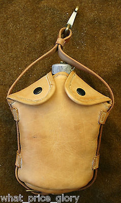 US Army Cavalry Officer Leather Canteen Carrier
