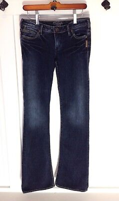 SILVER JEANS KYLE SLIM BOOT CUT Dark WASH Women SIZE 27/33 EXC!