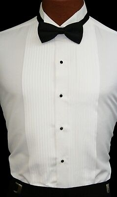 White Tuxedo Shirt Perfect for Theater Costumes Play Damaged Discount Cheap - Cheap Fun Costumes