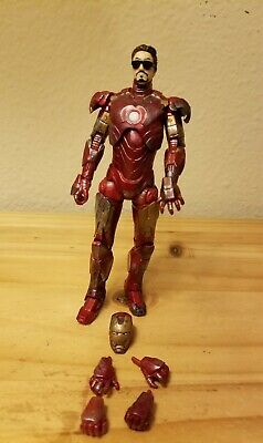 Marvel Legends Iron Man 2 Walmart Exclusive Mark IV 4  Custom Paint BattleDamage