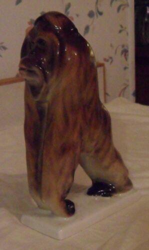 Lomonosov ORANGUTAN Statue - Porcelain Russia Figure - Ape - Monkey