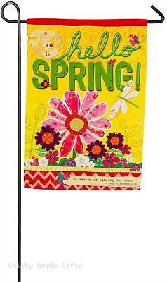 Evergreen Garden flag Hello Spring 14s4095