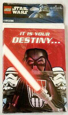 8 Lego Star Wars Darth Vader 2011 Birthday Party Invitations Hallmark Invites Star Wars Birthday Invitations