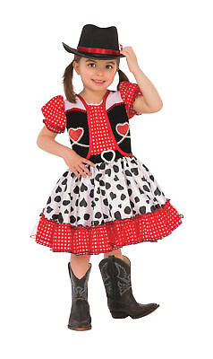Cowgirl Wild West Western CHILD Dress Hat Costume NEW Cowboy (Cowgirl Kids Costume)