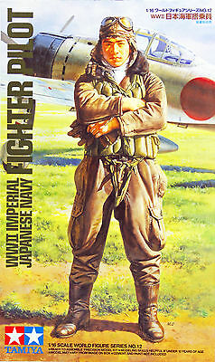 Tamiya 36312 WWII Imperial Japanese Navy Fighter Pilot 1/16 Scale Figure