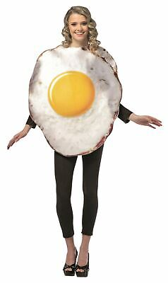 GET REAL EGG adult funny mens womens fried breakfast halloween costume ONE