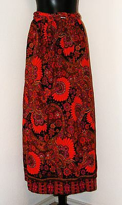 Beautiful 1970s Vintage- Long Floral pattern Skirt- size 6