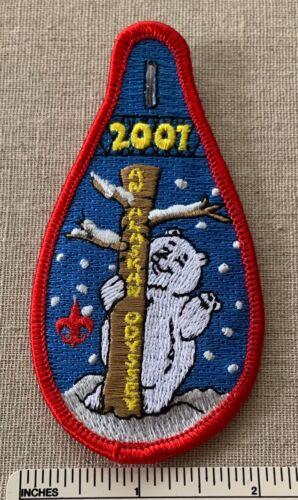 2001 AN ALASKAN ODYSSEY Boy Scout Winter Camp PATCH Wester Alaska Council? BSA
