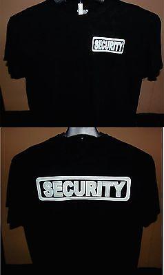 SMART SECURITY T-SHIRT BLACK GLOW N  DARK & HAT Guard Office