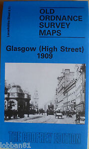OLD-ORDNANCE-SURVEY-MAP-Scotland-Glasgow-High-St-1909