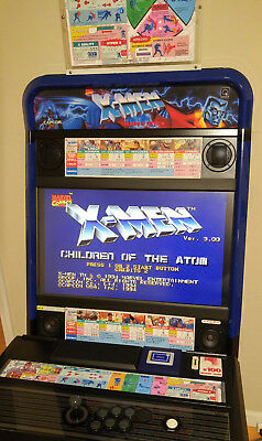 Capcom X-Men Children of the Atom Art Set for Taito Vewlix (CARD) CPS2 Jamma for sale  Shipping to Canada