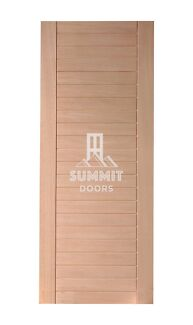 Flush Solid Panel Entrance Doors - Meranti Timber Stain/ Paint