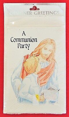 8pk Son's A First Communion Party Invitation Cards Designer Greetings 3.5