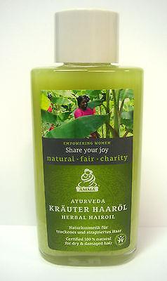 Amrita Ayurveda Kräuter Haaröl 100ml für trockenes strapaziertes Haar Vegan ()