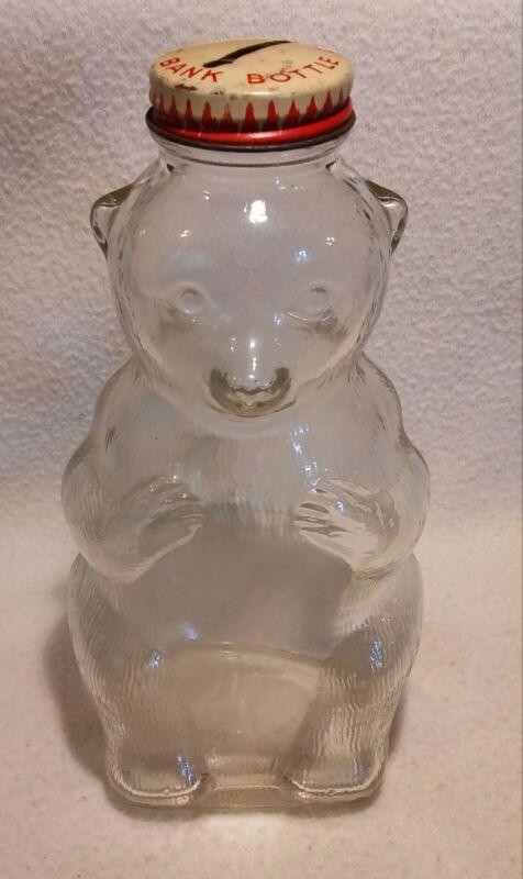 Vintage Snow Crest Bear Bank Bottle