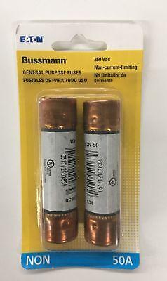 Bussman Bpnon-50 50 Amp Fast Acting Cartridge Fuse