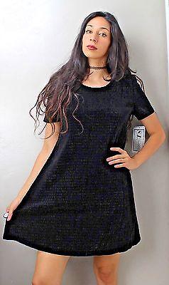 90's Grunge Gothic Velvet Black Dress BRAND NEW S.L. Fashions Size: 10