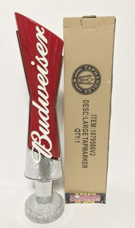 "Budweiser Bowtie Logo Beer Tap Handle 13"" Tall - Brand New In Box!"