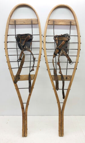 Lot Of 3 Different Single Sugar Shack Snowshoes For Decor or Arts & Craft
