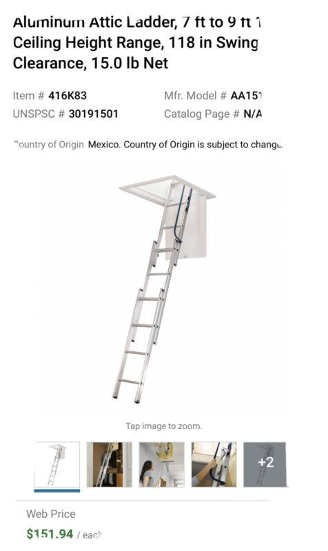 Werner Aluminum Attic Ladder