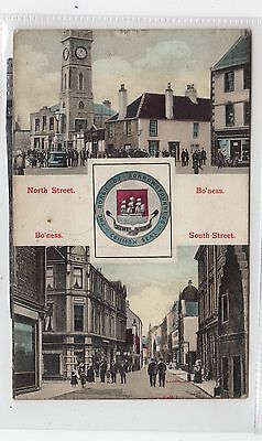 NORTH STREET/ SOUTH STREET, BO'NESS: West Lothian postcard (C26737)