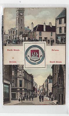NORTH STREET/ SOUTH STREET, BO'NESS: West Lothian postcard (C26737)