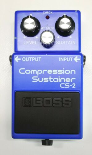 BOSS CS-2 Compression Sustainer Guitar Effects Pedal MIJ 1985 #202 with Box