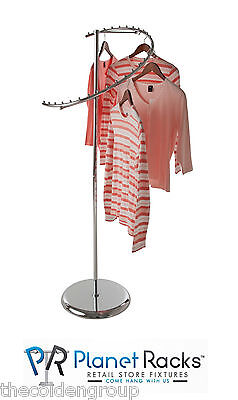Planet Racks 29-ball Chrome Retail Spiral Clothing Garmet Costumer Display 63