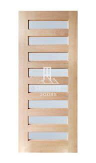 8 Small Frosted Glass Entrance Door - Engineered Solid Timber