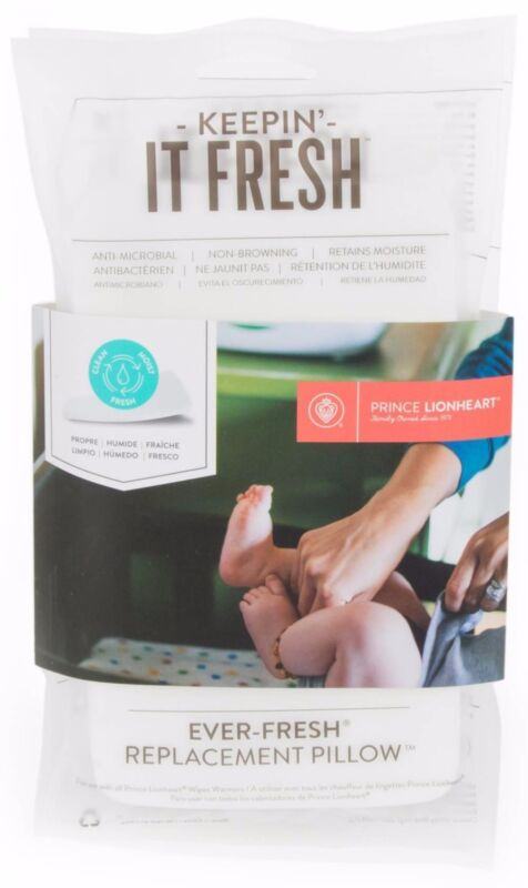 Prince Lionheart 2 Pack Ever-Fresh System Wipe Warmer Replacement Pillows 720206