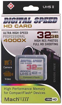 Digital Speed 4000X 32GB Professional High Speed Mach III 600MB/s Error Free CF