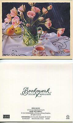 VINTAGE SHRIMP CELERY GARLIC NEW ORLEANS RECIPE 1 TEA CUP TULIPS APPLES (Garlic Shrimp Recipe)