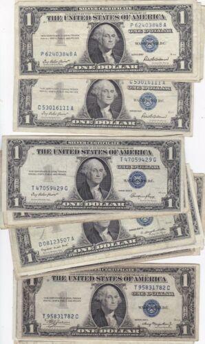 KAPPYSCOINS W5011 BUNDLE OF 25  $1.00  SILVER CERTIFICATES CIRC MIXED SERIES