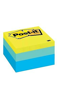 Post-it Notes Cube 3 In X 3 In Blue Yellow 470 Sheets 76mmx76mm Sticky Pad