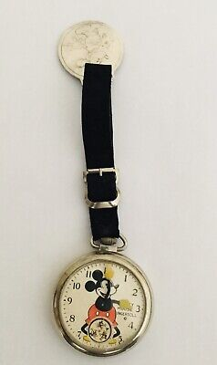 Original Ingersoll Mickey Mouse Pocket Watch And Farb