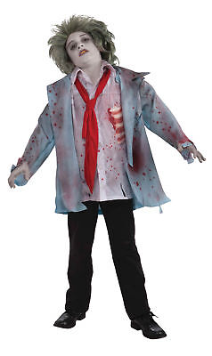 Zombie Boy Ghoulishly Clever Costume Tattered Jacket Halloween Forum Novelties