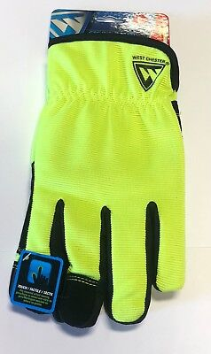 West Chester Winter Gloves Hi-vis Synthetic Palm Touch Screen Technology Large