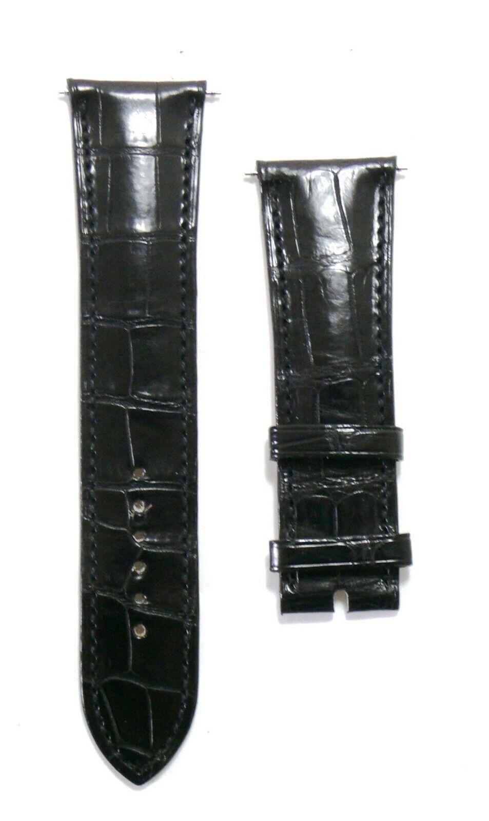 Genuine Parmigiani Fleurier Hermes Black Crocodile Leather Watch Strap NEW 33310