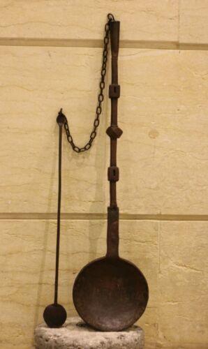 Antique Ottoman Bedouin steel Coffee Roast (Mehmas)  Middle East Culture محماس