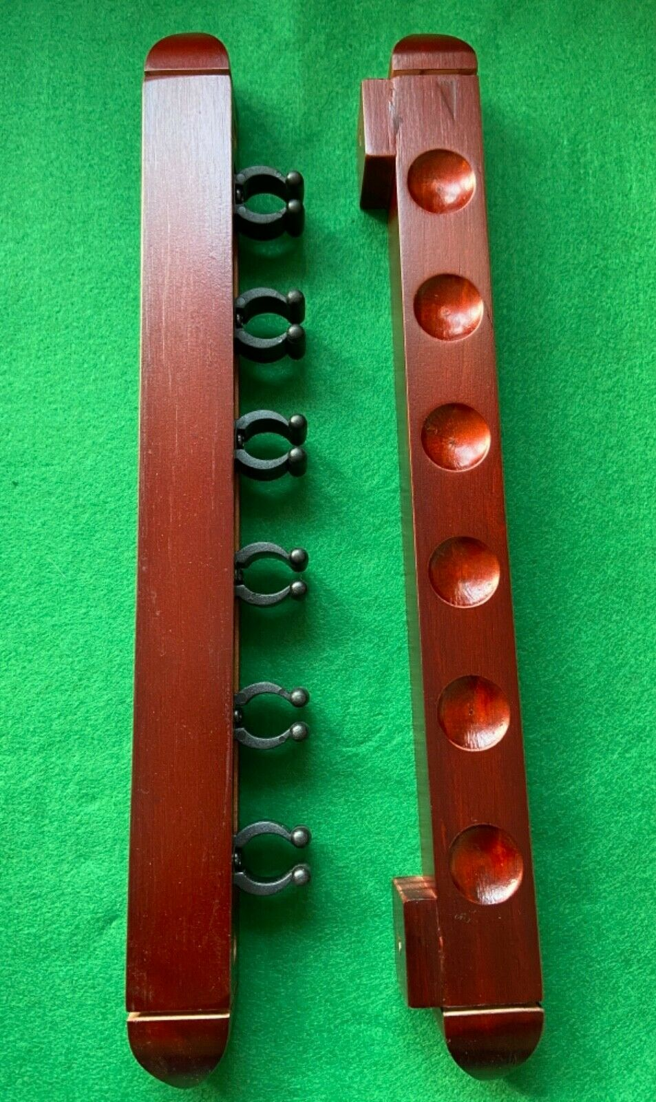2p Wooden Wall Mount Cue Rack
