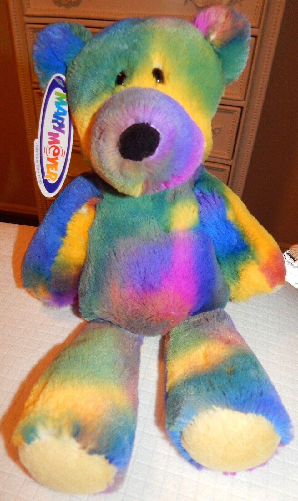 Mary Meyer Teddy Bear Tie Dye Marshmallow Green Pink Purple