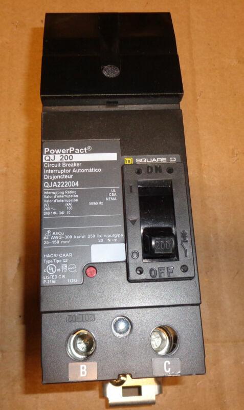 PERFECT SQUARE D POWERPACT QJ200 CAT# QJA222004 (B-C)  I-LINE CIRCUIT BREAKER