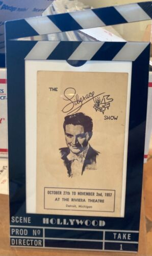 Scene Hollywood frame with Liberace show Riviera postcard piano drawing